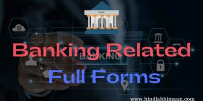 Banking Full Forms of Acronyms