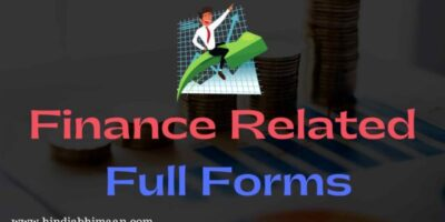 Finance Related Full Forms of Acronyms