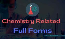 Chemistry Related Full Forms of Acronyms