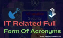 IT Related Full Forms of Acronyms