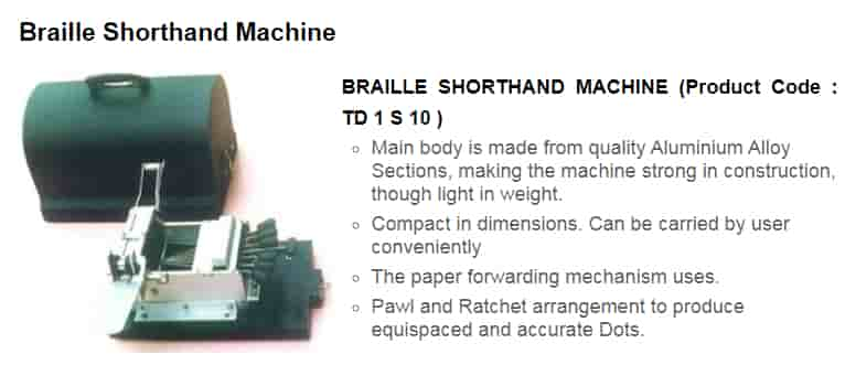 Braille-Shorthand-Machine